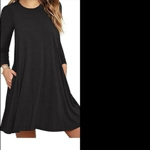 Soft and Comfortable Long Sleeve Midi Dress